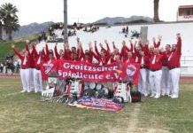 Gelungener WM-Auftritt: Die Groitzscher Spielleute errangen im vergangenen Jahr drei dritte Plätze in Palm Springs. Beim diesjährigen Musikfest wollen sie die Qualifikation für die nächstjährige Deutsche Meisterschaft perfekt machen.Foto: privat