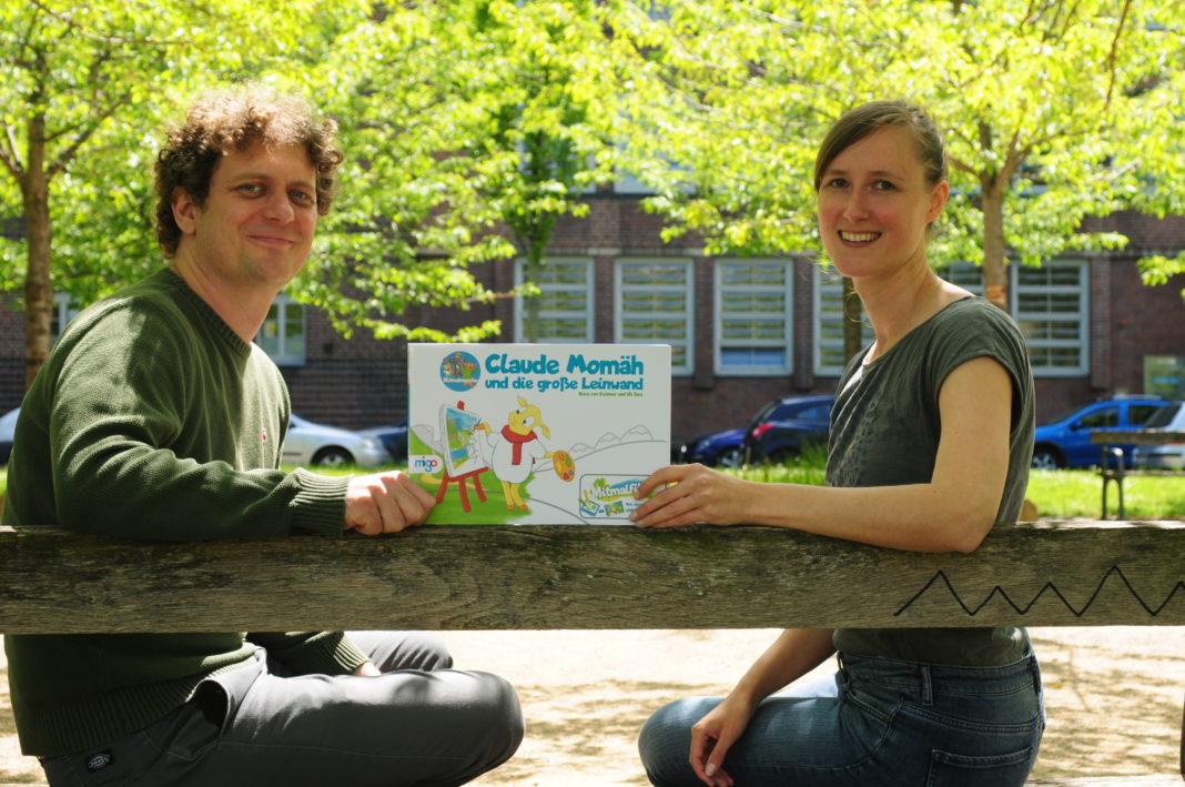 Sie haben die Idee des Mitmalfilms in der neuen Heimat Leipzig entwickelt: Uli Seis und Alice von Gwinner. Foto: Jens Wagner