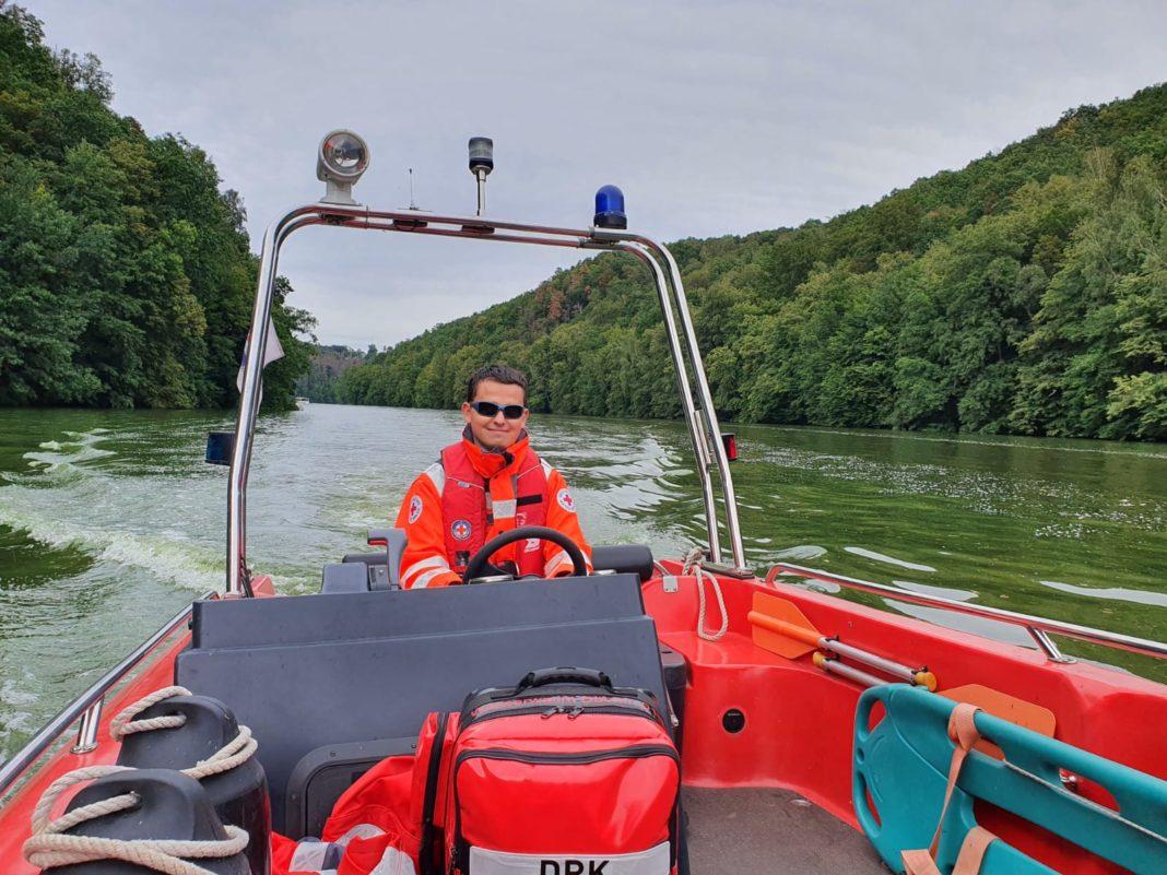 Die Rettungsschwimmer der Wasserwacht Döbeln sind auch in diesem Jahr unter anderem auf der Talsperre Kriebstein unterwegs. Foto: Kati Kügler